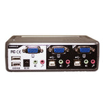 2-Port USB-PS/2 KVM Switch w/ Audio, Mic & Hub