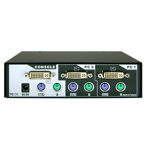 2-Port DVI PS/2 KVM Switch