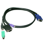 Slim 3-in-1 USB PS/1 KVM Combo cable