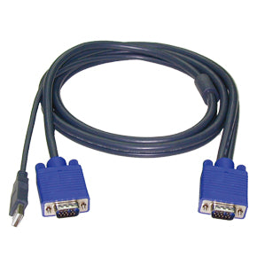 Slim 3-in-1 USB KVM Combo Cable (Male-to-male)