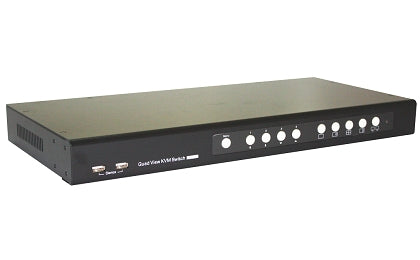 4 Port DVI Quad View KVM Switch