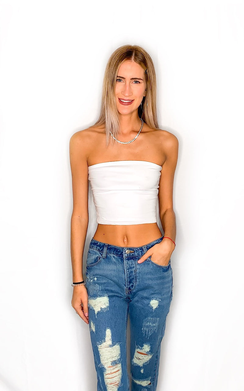 Alissa Tube Top- White