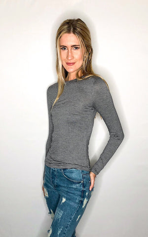 Carly Crop - Grey