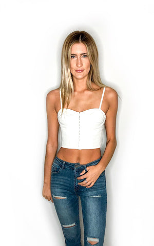 Needy Crop Top - White