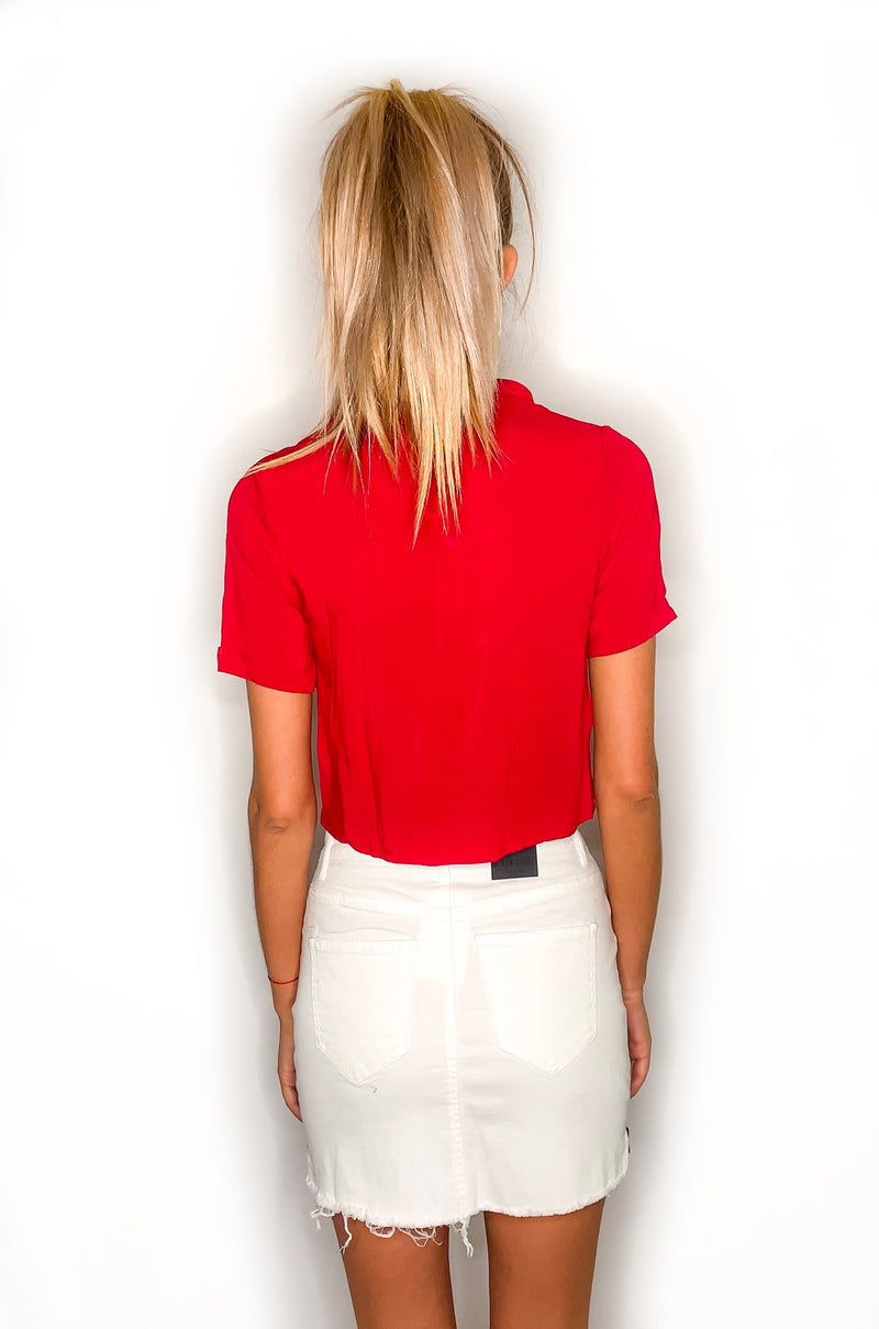Taylor Crop Top - Red