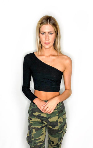 Back To Back Cropped Tank Top- Black