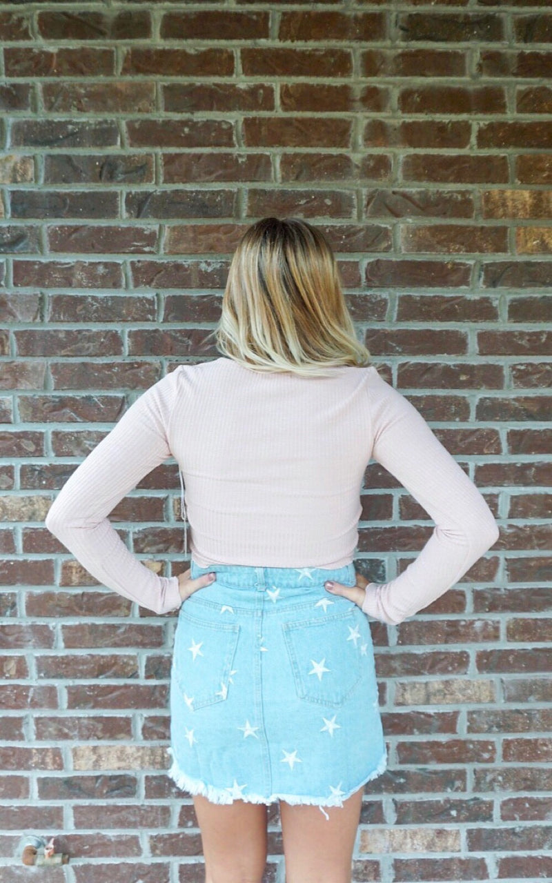 Blushing Long Sleeve Crop