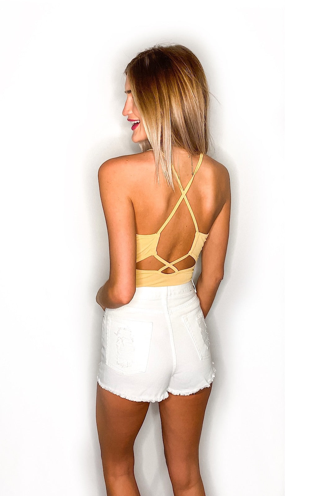 Babe Bodysuit- Yellow