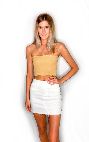 Alissa Tube Top- Mustard