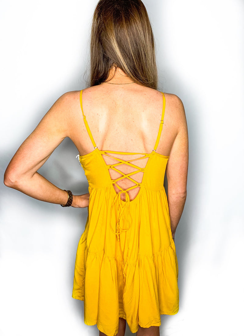 Old Town Road Dress - Yellow