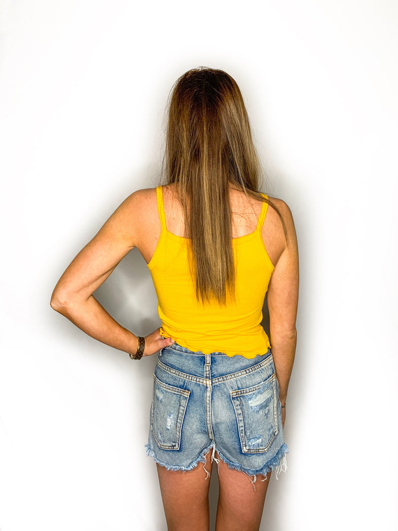 Tampa Crop Top- Yellow