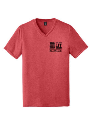 IN STOCK! Limited Edition Chapter 2 Summit V-Neck Shirt. DT1350. Red Frost.