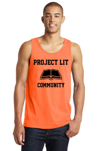 IN STOCK! Neon Orange District® Young Mens The Concert Tank. DT5300.