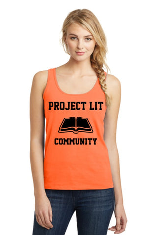 IN STOCK! Neon Orange District® Ladies The Concert Tank. DT5301.