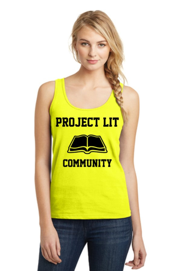 IN STOCK! Neon Yellow District® Ladies The Concert Tank. DT5301.