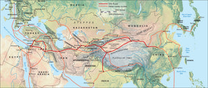 Along the Silk Road (wall map)
