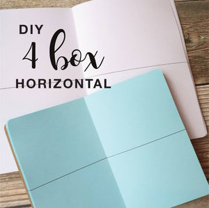 TRAVELERS NOTEBOOK INSERT - 4 BOX HORIZONTAL DIY