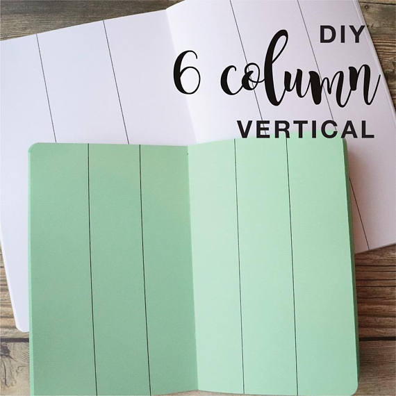 TRAVELERS NOTEBOOK INSERT - 6 COLUMN VERTICAL DIY
