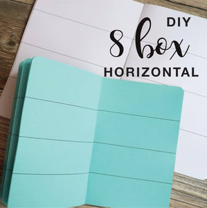 TRAVELERS NOTEBOOK INSERT - 8 BOX HORIZONTAL DIY