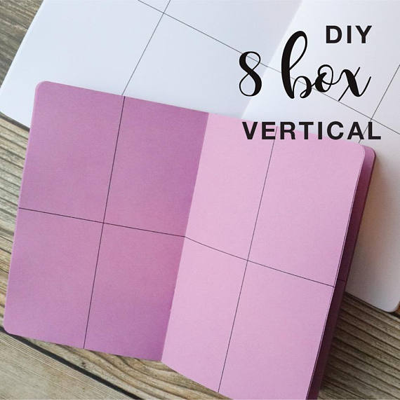 TRAVELERS NOTEBOOK INSERT - 8 BOX VERTICAL DIY