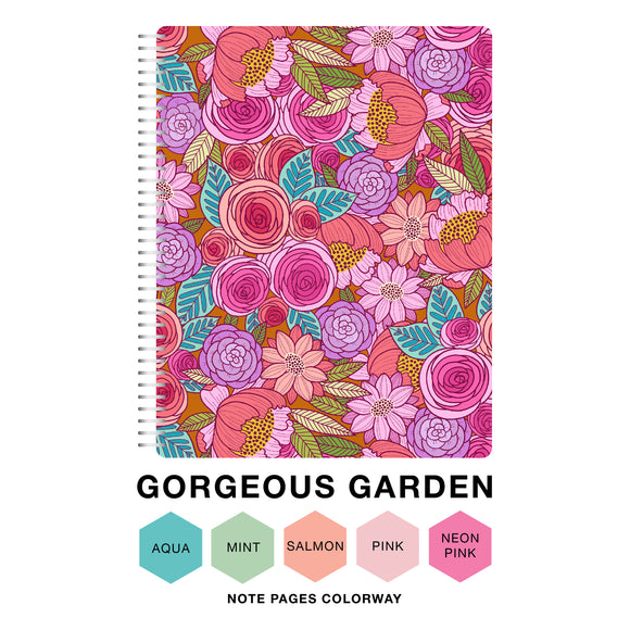 CLEARANCE - 2nd Quality - Spiral 2021 Dated Vertical Weekly Planner - Gorgeous Garden (DVW1)