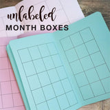 TRAVELERS NOTEBOOK INSERT - DIY UNDATED MONTHLY CALENDAR