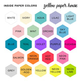DISC PUNCHED PLANNER PAPER FITS HAPPY PLANNER MINI - PATTERNS