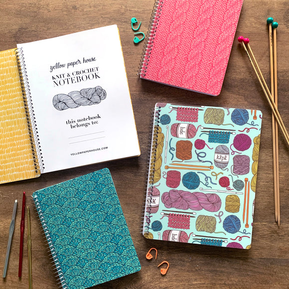 Spiral Knit & Crochet Notebook