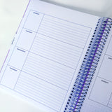 CLEARANCE - 1st Quality - Spiral Undated Horizontal Weekly Planner - Aster