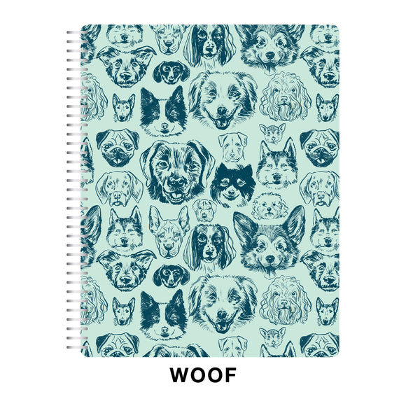 CLEARANCE - 2nd Quality - Spiral 2021 Dated Monthly Planner - WOOF! (Dogs) (DM1)