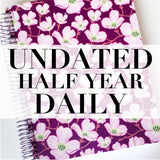 Spiral Undated Half Year Daily Planner