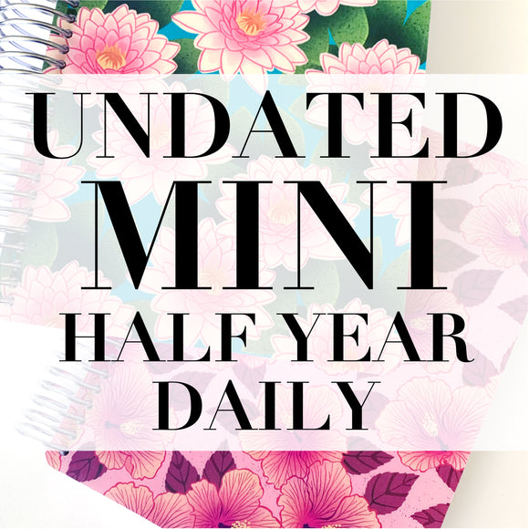 CLEARANCE - 2nd Quality - Spiral Mini Undated Half Year Daily Planner
