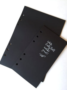 FILOFAX STYLE PLANNER PAPER - 6 RING - BLACKOUT!