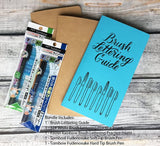 TRAVELERS NOTEBOOK INSERT - BRUSH LETTERING GUIDE BUNDLE