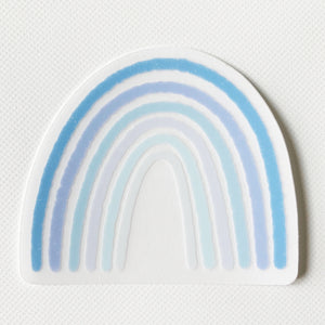 "Blue Clear Rainbow Sticker  2.5"" x 2.25"""