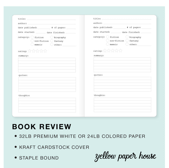 TRAVELERS NOTEBOOK INSERT - BOOK REVIEW