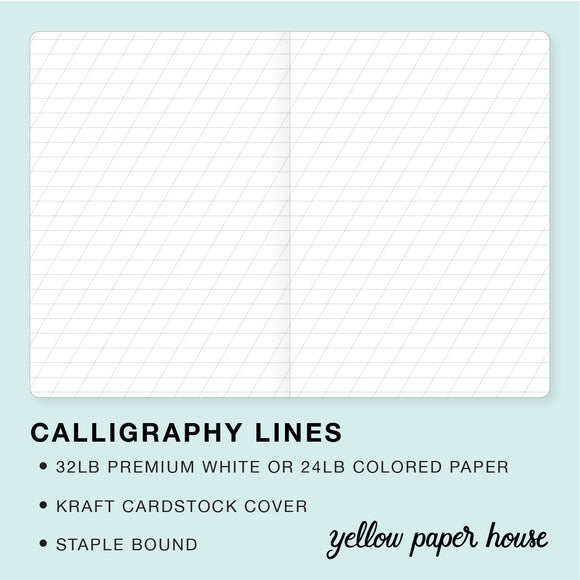 TRAVELERS NOTEBOOK INSERT - CALLIGRAPHY LINES