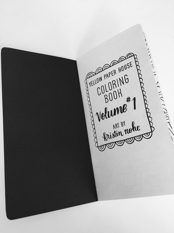 TRAVELERS NOTEBOOK INSERT - COLORING BOOK Volume 1