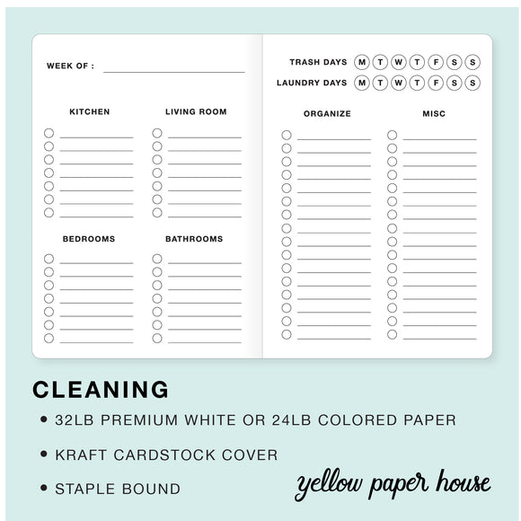 TRAVELERS NOTEBOOK INSERT - CLEANING