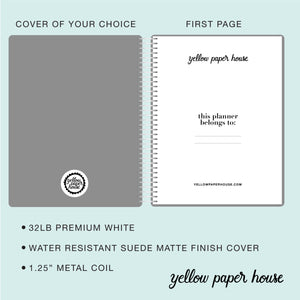 CUSTOM DESIGNED DAY PER PAGE PLANNER