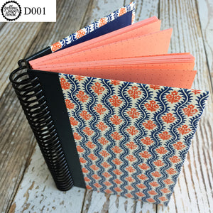 UPCYCLED SPIRAL JOURNAL - Dot Grid Paper - D001