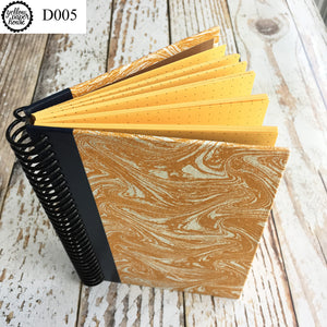UPCYCLED SPIRAL JOURNAL - Dot Grid Paper - D005
