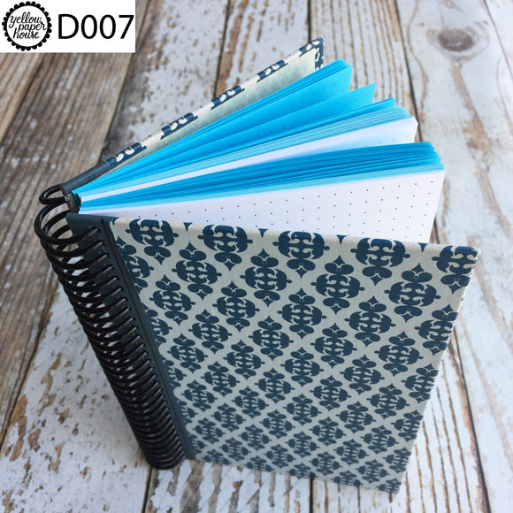 UPCYCLED SPIRAL JOURNAL - Dot Grid Paper - D007