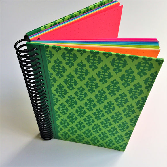 UPCYCLED SPIRAL JOURNAL - Dot Grid Paper - D008