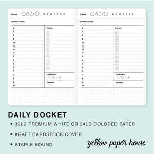 photograph about Daily Docket Printable titled Travellers Laptop computer Incorporate - Day-to-day DOCKET