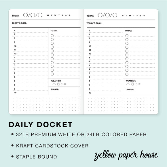 TRAVELERS NOTEBOOK INSERT - DAILY DOCKET