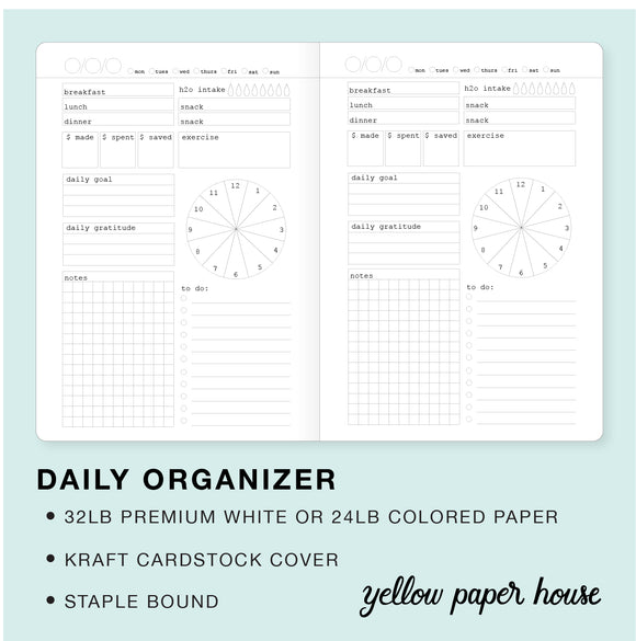 TRAVELERS NOTEBOOK INSERT - DAILY ORGANIZER