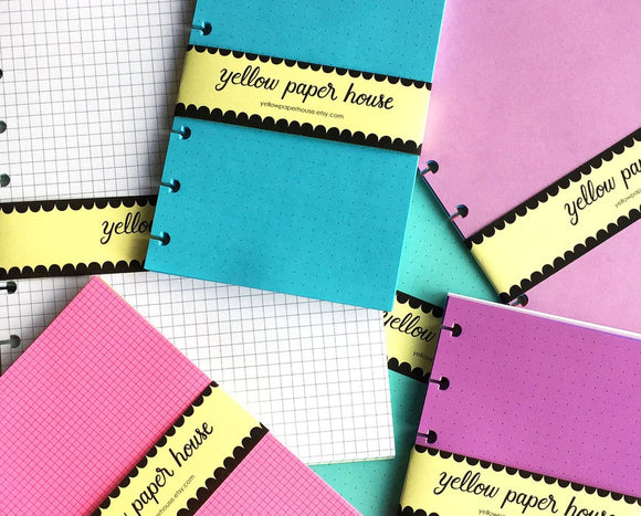 DISC PUNCHED PLANNER PAPER FITS LEVENGER CIRCA COMPACT - PATTERNS