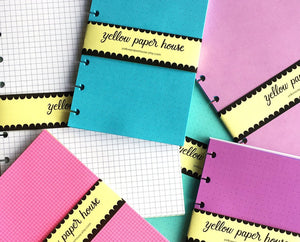 DISC PUNCHED PLANNER PAPER FITS HAPPY PLANNER BIG or LEVENGER LETTER - PATTERNS