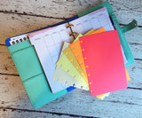 DISC PUNCHED PLANNER PAPER - FITS HAPPY PLANNER or LEVENGER CIRCA - AUTUMN LEAVES